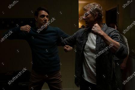 Ralph Macchio as Daniel LaRusso and William Zabka as Johnny Lawrence