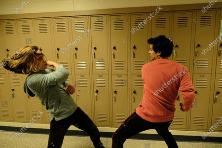 Stock Picture of Tanner Buchanan as Robby Keene and Xolo Mariduena as Miguel Diaz