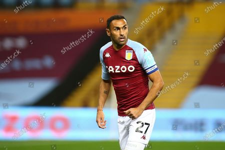 Ahmed Elmohamady of Aston Villa (27) during the EFL Cup match between Aston Villa and Stoke City at Villa Park, Birmingham