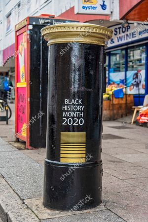 Editorial picture of Black History Month Black Postbox in London, UK - 01 Oct 2020