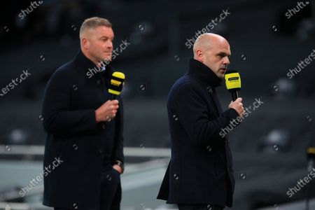 Stock Image of Former soccer player Danny Murphy (R) ahead of the UEFA Europa League playoff soccer match between Tottenham Hotspur and Maccabi Haifa in London, Britain, 01 October 2020.