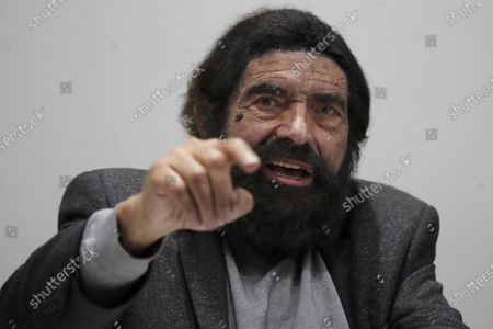 """French novelist and philosopher Marek Halter attends a press conference entitled """"First conference of Imams from Europe against Radicalization"""", in Paris"""