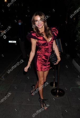 Lizzie Cundy is seen at Annabel's Mayfair