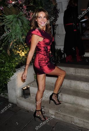 Editorial picture of Lizzie Cundy out and about, London, UK - 01 Oct 2020