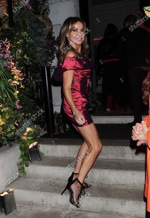Editorial image of Lizzie Cundy out and about, London, UK - 01 Oct 2020