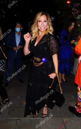 Joy Desmond is seen out at Annabel's Mayfair
