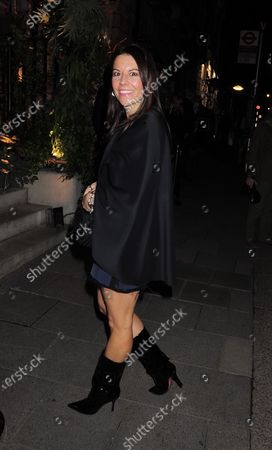 Juliet Angus is seen out at  Annabel's Mayfair