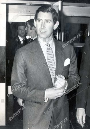 Prince Charles Prince Of Wales Pictured Arriving At The National Film Theatre For A Screening Of The Jean Harlow Film Red Dust.