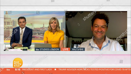 Stock Photo of Adil Ray, Kate Garraway, Dominic West