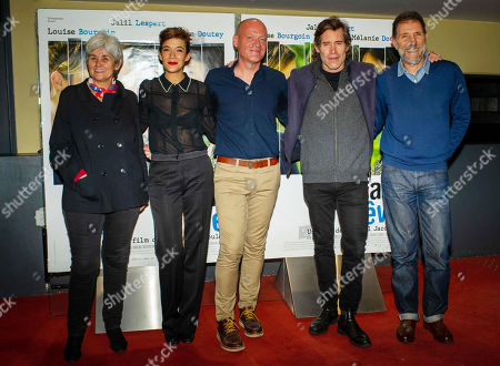 Stock Photo of Melanie Doutey, Raphael Jacoulot, Jalil Lespert and TS Productions members