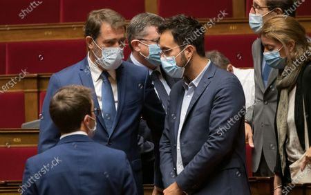 Christophe Castaner and Mounir Mahjoubi during the weekly session of questions to the government at the national Assembly.