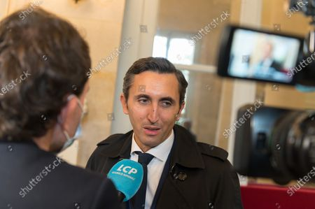 Julien Aubert during the weekly session of questions to the government at the national Assembly.