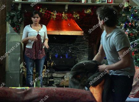 Jasmine Thomas [Jenna-Louise Coleman] and Jake Doland [James Baxter] Kiss.  Jasmine Suddenly Pulls Away and Freaks Out.  Jake is Left Stunned.