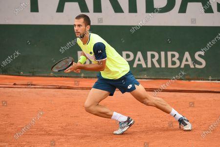 Stock Image of Laslo Djere at Roland Garros stadium