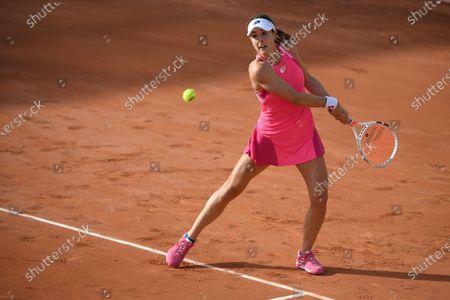 Alize Cornet at Roland Garros stadium