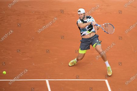 Jack Sock at Roland Garros stadium