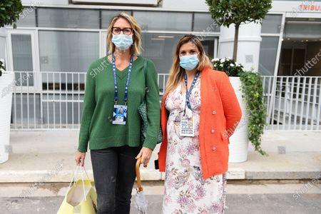 Mary Pierce and Marion Bartoli at Roland Garros stadium