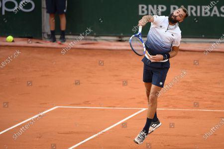 Stock Image of Benoit Paire at Roland Garros stadium