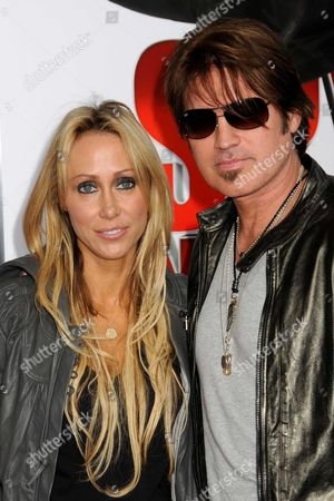 Stock Photo of Billy Ray Cyrus and wife Letitia Cyrus (aka Tish Cyrus)