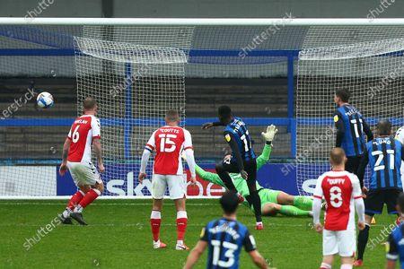 Rochdale's Fabio Tavares scores his sides second goal