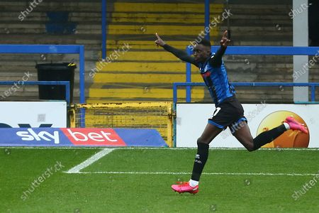 Rochdale's Fabio Tavares celebrates scoring his sides second goal