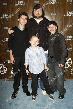 Matthew Levy; Benjamin Stockham (front), Tyler Labine and Frank Dolce