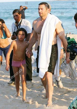 Hugh Jackman and son Oscar Maximillian Jackman