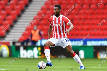 John Obi Mikel (13) of Stoke City in action during the game