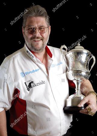 Editorial photo of Martin 'Wolfie' Adams, winner of the 2010 BDO Lakeside World Professional Darts Championship Trophy, Britain - 11 Jan 2010