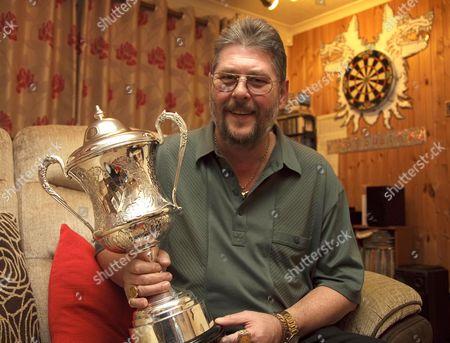Editorial image of Martin 'Wolfie' Adams, winner of the 2010 BDO Lakeside World Professional Darts Championship Trophy, Britain - 11 Jan 2010