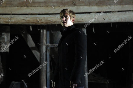 Andy Sugden [Kelvin Fletcher] and Maisie Wylde [Alice Coulthard] Hide in the Barn From Nathan Wylde [Lyndon Ogbourne].  they Kiss Passionately. Nathan Asks Daz Eden [Luke Tittensor] Where Andy is.