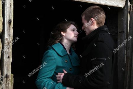 Victoria Sugden [Isobel Hodgins] and Daz Eden [Luke Tittensor] Kiss.