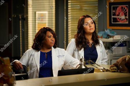 Chandra Wilson as Dr. Miranda Bailey and Camilla Luddington as Dr. Jo Karev