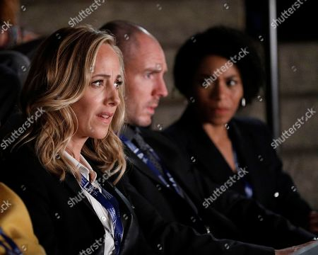 Kim Raver as Dr. Teddy Altman, Richard Flood as Dr. Cormac Hayes and Kelly McCreary as Dr. Maggie Pierce