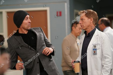 Stock Photo of Jonathan Cake as Griffin Ford and Greg Germann as Dr. Thomas Koracick