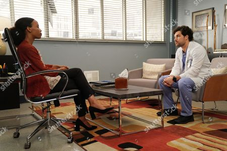 Christina Webber as Dr. Cynthia Cole and Giacomo Gianniotti as Dr. Andrew DeLuca