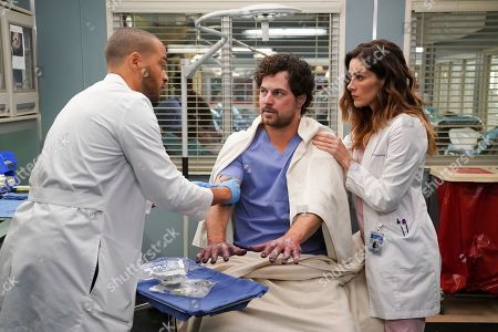 Jesse Williams as Dr. Jackson Avery, Giacomo Gianniotti as Dr. Andrew DeLuca and Stefania Spampinato as Dr. Carina DeLuca