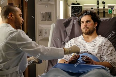 Stock Picture of Jesse Williams as Dr. Jackson Avery, Giacomo Gianniotti as Dr. Andrew DeLuca