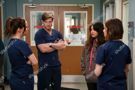 Stock Picture of Chris Carmack as Dr. Atticus Lincoln and Ariela Barer as Paula