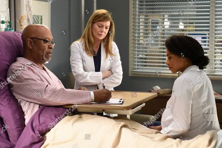 James Pickens Jr. as Dr. Richard Webber, Ellen Pompeo as Dr. Meredith Grey and Kelly McCreary as Dr. Maggie Pierce and