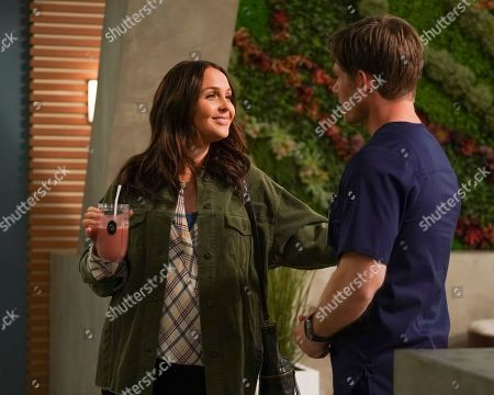 Stock Picture of Camilla Luddington as Dr. Jo Karev and Chris Carmack as Dr. Atticus Lincoln