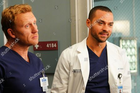 Kevin McKidd as Dr. Owen Hunt and Jesse Williams as Dr. Jackson Avery