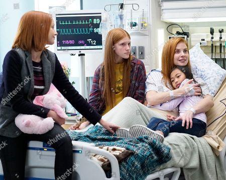 Lindy Booth as Hadley, Ava DeVoe as Matty, Sarah Rafferty as Suzanne Britland and Mia Lynn Bangunan as Mei Li