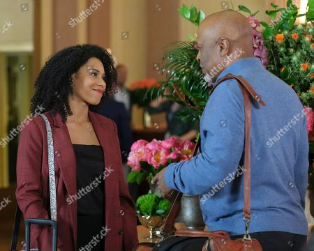 Kelly McCreary as Dr. Maggie Pierce and James Pickens Jr. as Dr. Richard Webber