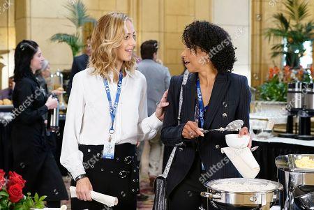 Kim Raver as Dr. Teddy Altman and Kelly McCreary as Dr. Maggie Pierce