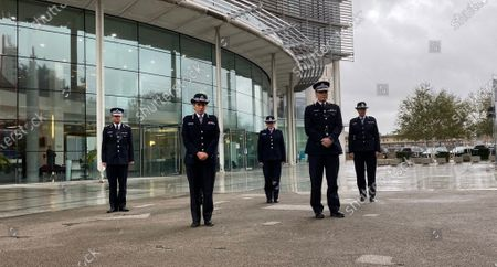 Stock Photo of Commissioner Cressida Dick and her management board led the silence outside the Empress State Building in west London