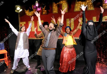 Editorial photo of 'Jihad! The Musical' performed at the Jermyn St Theatre, London, Britain - 12 Jan 2010
