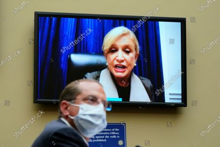 Rep. Carolyn Maloney, D-N.Y., speaks as Secretary of Health and Human Services Alex Azar testifies to the House Select Subcommittee on the Coronavirus Crisis, on Capitol Hill in Washington
