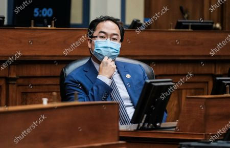 Stock Image of Rep. Andy Kim, D-N.J., listens as Secretary of Health and Human Services Alex Azar testifies to the House Select Subcommittee on the Coronavirus Crisis, on Capitol Hill in Washington