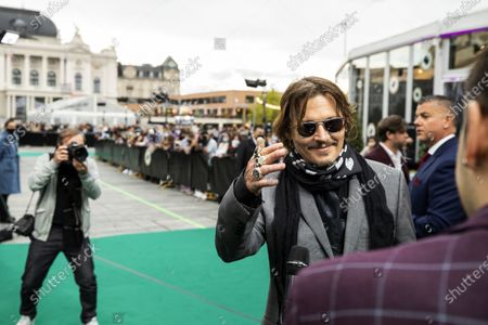 Johnny Depp (R) poses on the Green Carpet during the 16th Zurich Film Festival (ZFF) in Zurich, Switzerland, 02 October 2020. The festival runs from 24 September to 04 October 2020.